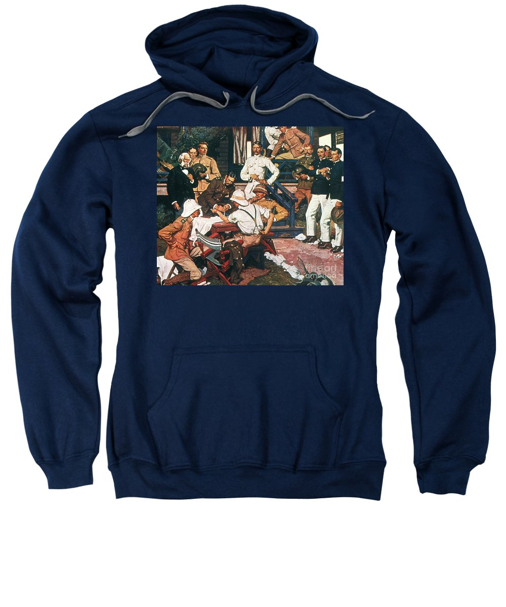 1900 Sweatshirt featuring the photograph Yellow Fever, Cuba, C1900 by Granger