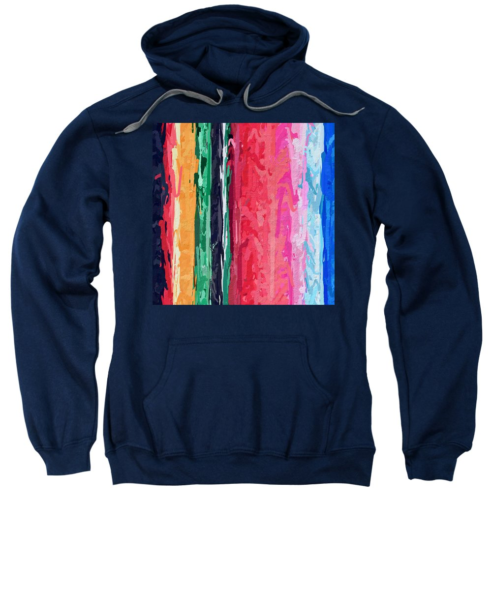 Stripe Sweatshirt featuring the photograph Yipes Stripes by Modern Art