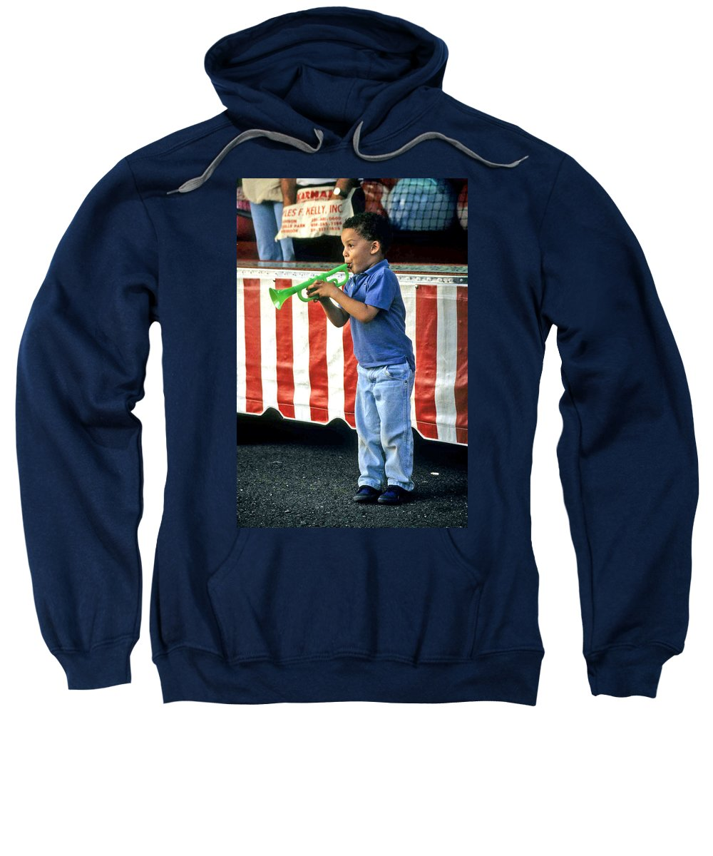 Young Musician Sweatshirt featuring the photograph Young Musician by Laurie Paci