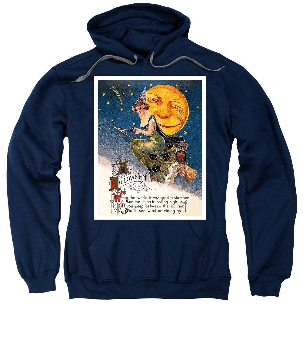 Broom Mixed Media Hooded Sweatshirts T-Shirts