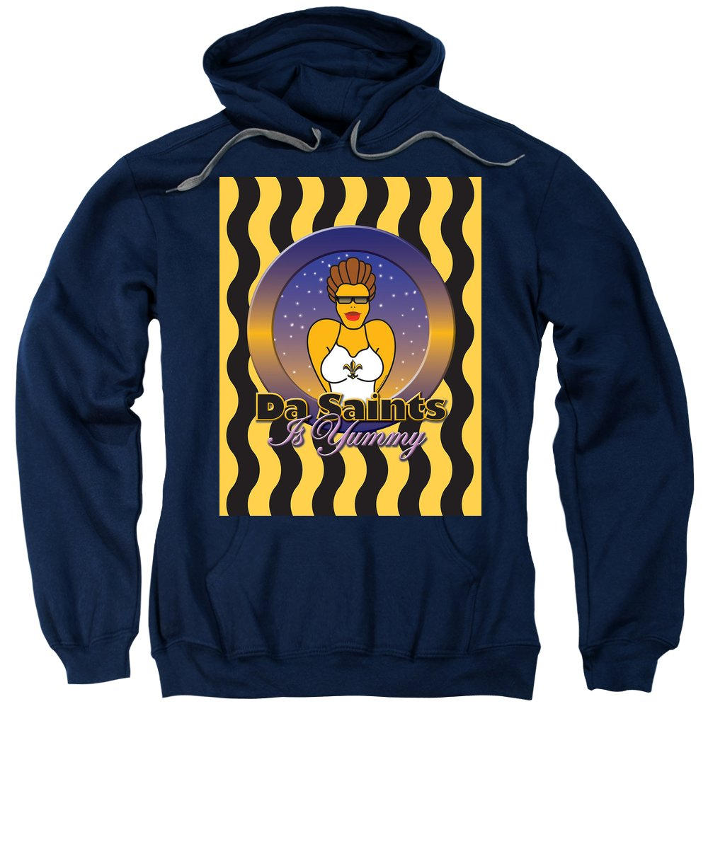 New Orleans Sweatshirt featuring the painting Yummy by Steve Ellis