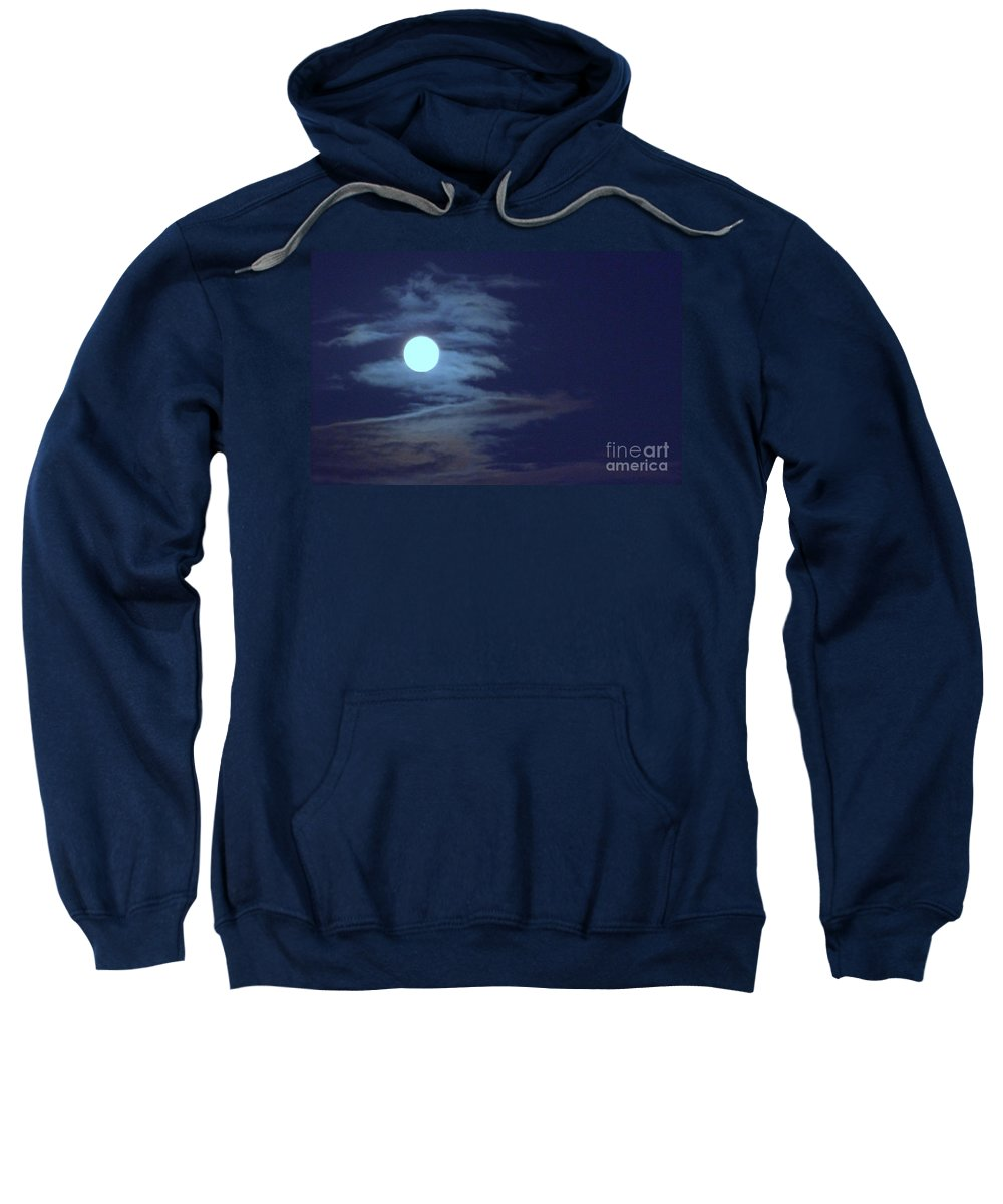 Moon Sweatshirt featuring the photograph Zig Zag Moon by Mary Deal
