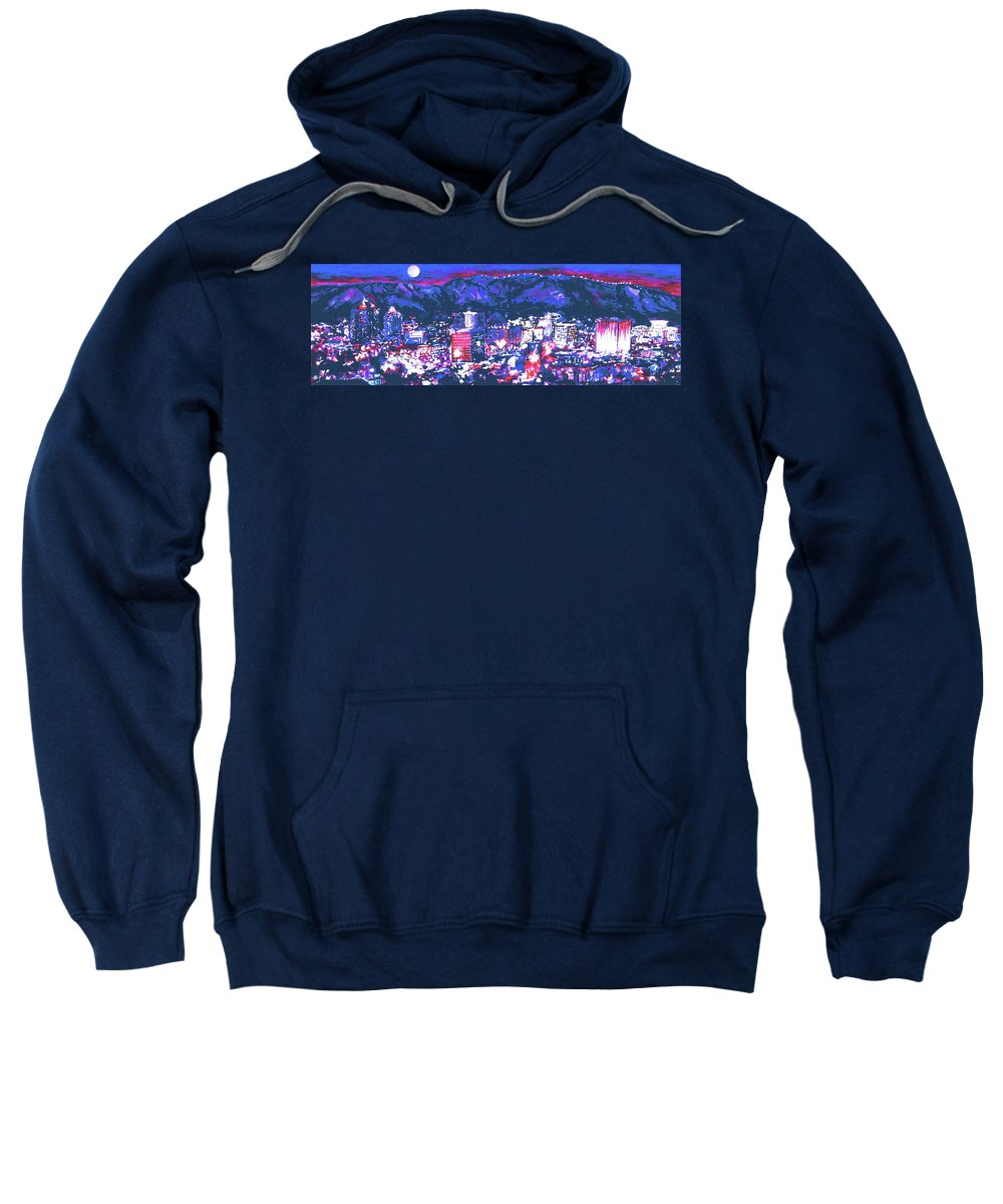 Albuquerque Sweatshirt featuring the painting Albuquerque by Mary Jungels Goodyear