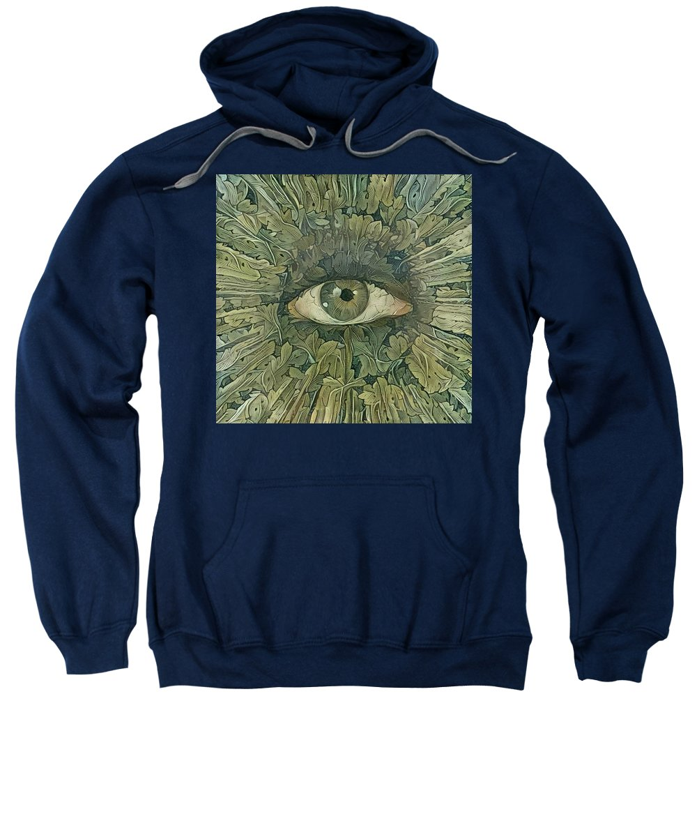 3d Rendering Sweatshirt featuring the digital art Green Eye Of Nature by Bruce Rolff