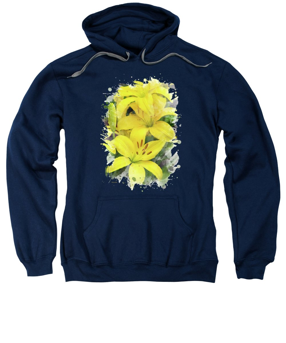 Easter Lily Mixed Media Hooded Sweatshirts T-Shirts