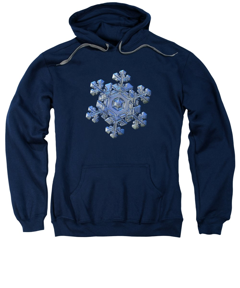 Snowflake Sweatshirt featuring the photograph Real Snowflake - 05-feb-2018 - 13 by Alexey Kljatov