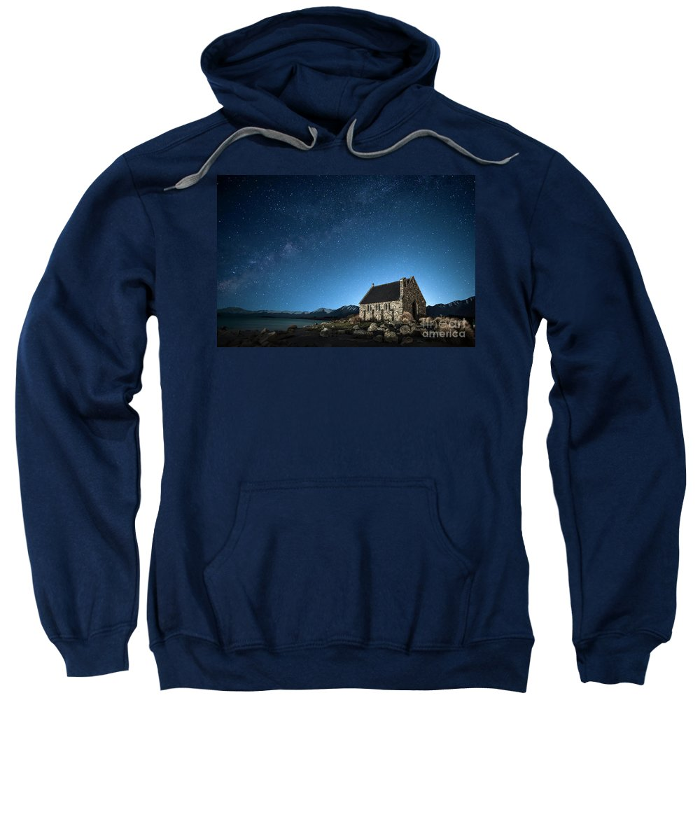 Kremsdorf Sweatshirt featuring the photograph Stars And Midnight Blue by Evelina Kremsdorf