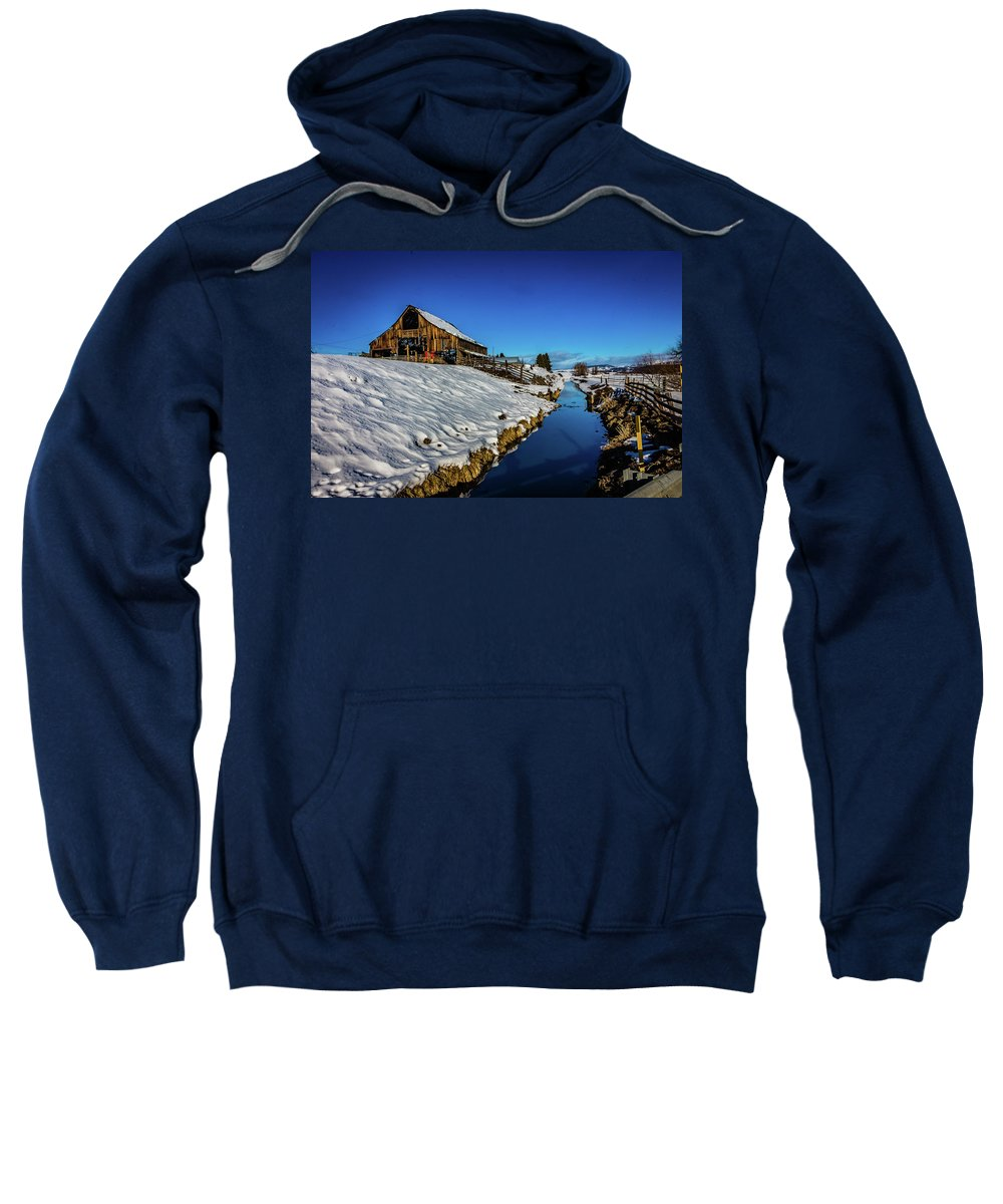 Adventure Sweatshirt featuring the photograph Winter Contrast by Mirek Kohout