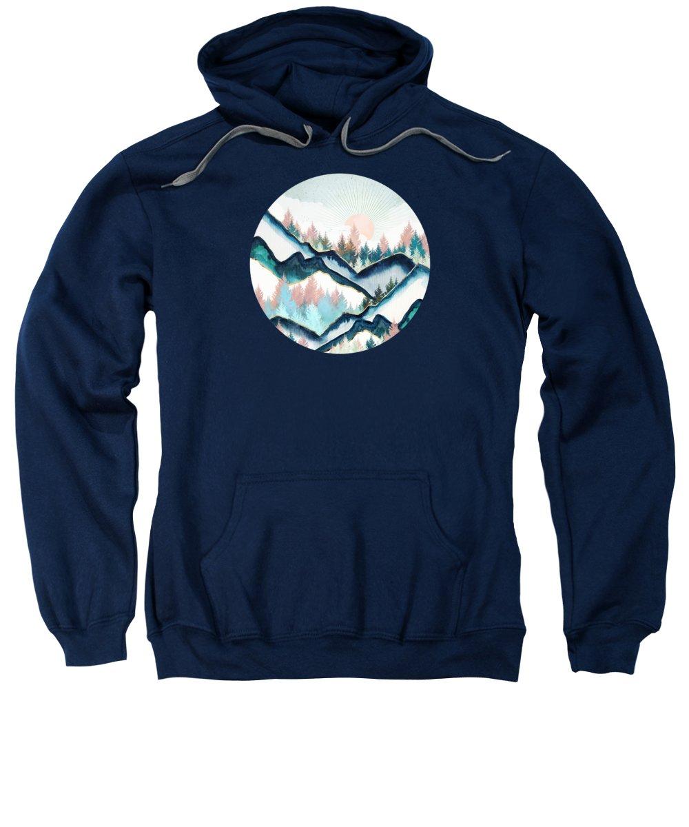 Digital Sweatshirt featuring the digital art Winter Forest by Spacefrog Designs