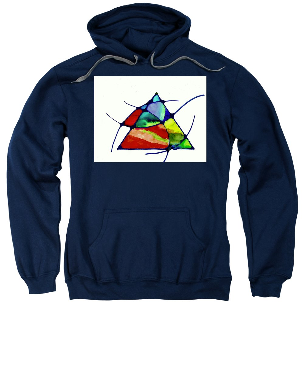 Abstract Sweatshirt featuring the painting Belonging by Della McGee