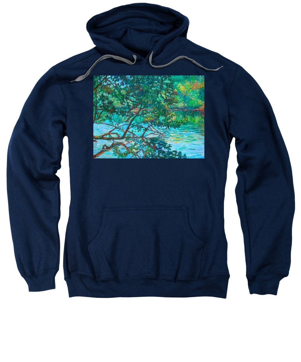 Landscape Sweatshirt featuring the painting Bisset Park by Kendall Kessler
