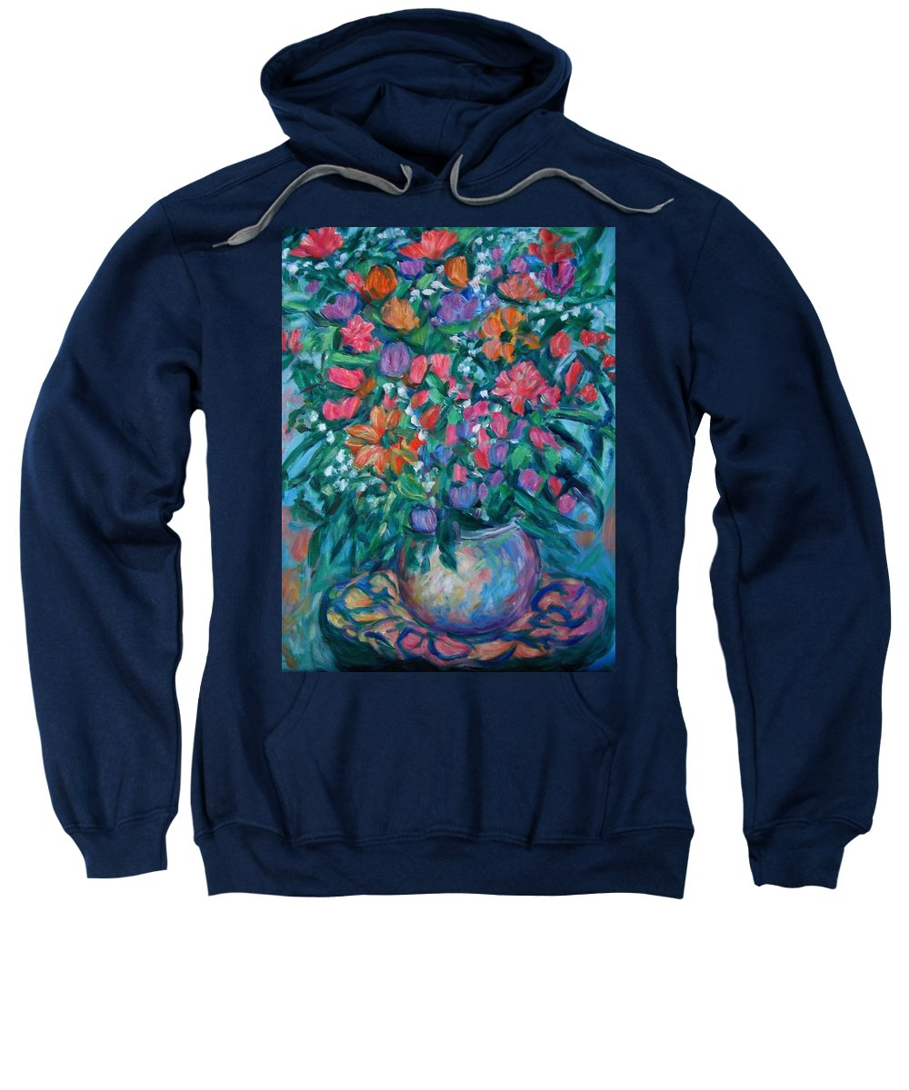 Floral Paintings Sweatshirt featuring the painting Dream Bouquet by Kendall Kessler