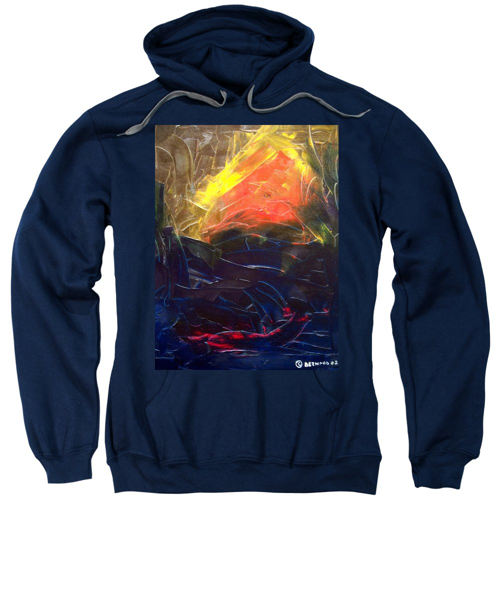 Duck Sweatshirt featuring the painting Forest .Part1 by Sergey Bezhinets
