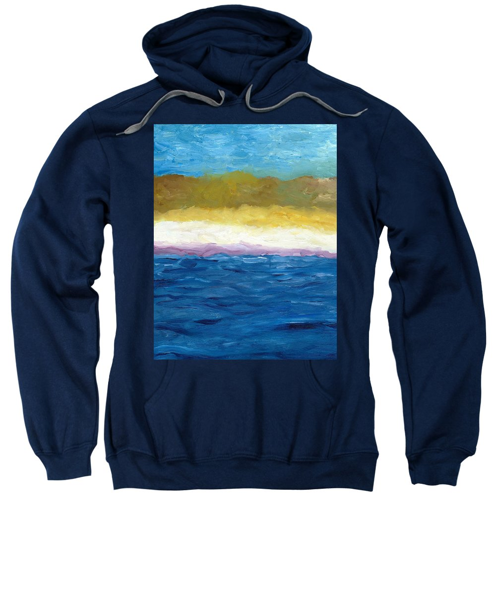 Abstract Landscape Sweatshirt featuring the painting Lake Michigan Dunes Study by Michelle Calkins