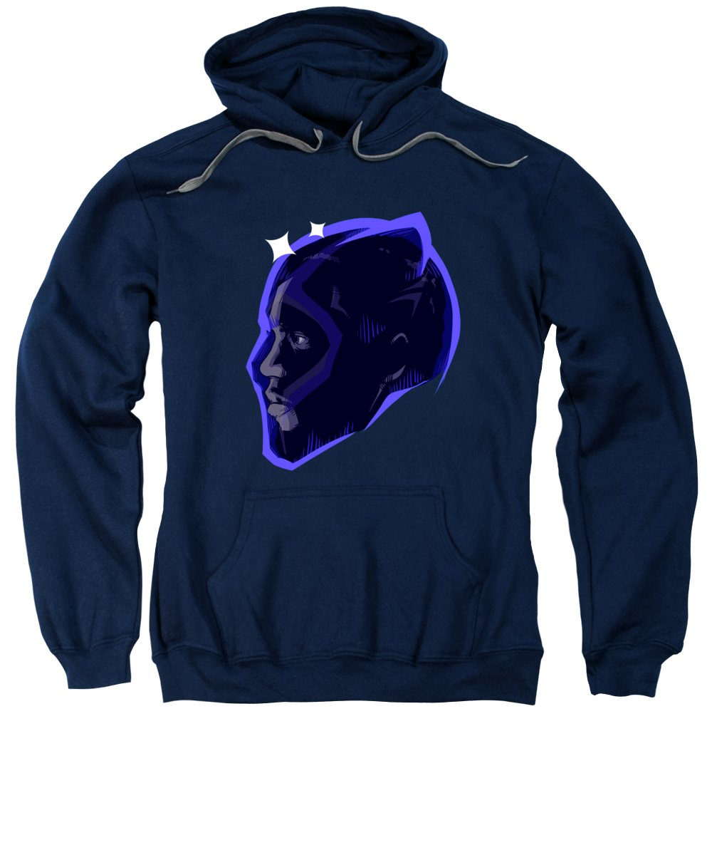 Panther Sweatshirt featuring the drawing Long Live The King by Ludwig Van Bacon