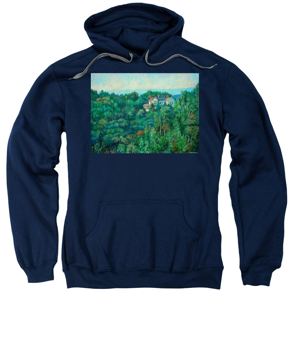Landscape Sweatshirt featuring the painting Near Memorial Bridge by Kendall Kessler