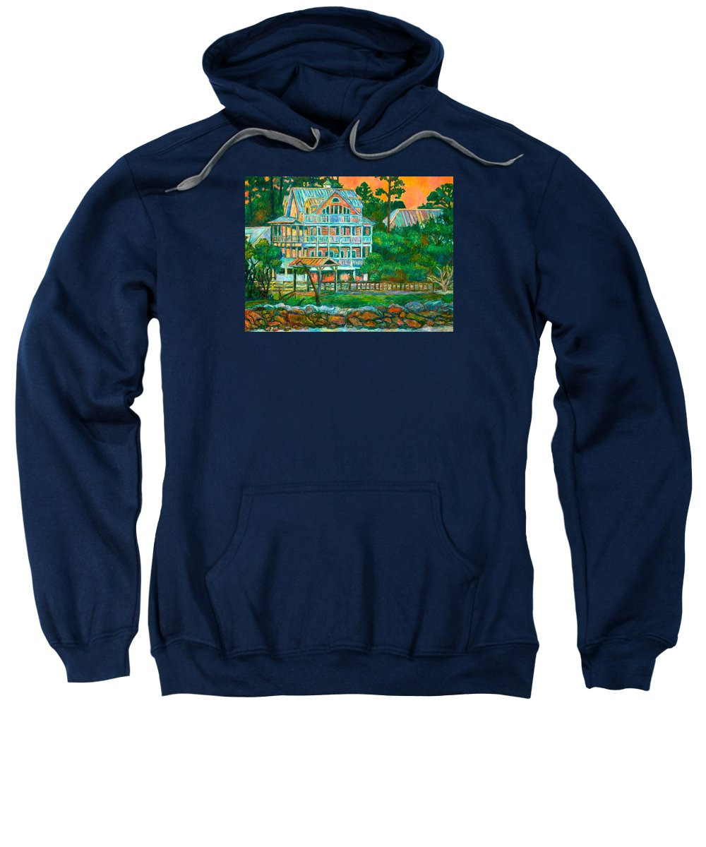 Landscape Sweatshirt featuring the painting Pawleys Island Evening by Kendall Kessler