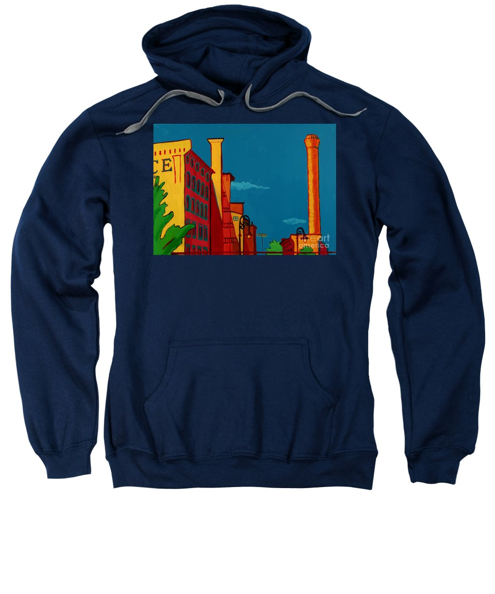 Landscape Sweatshirt featuring the painting Riverwalk by Debra Bretton Robinson