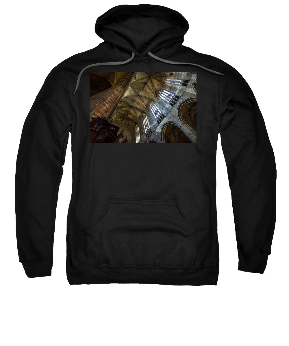 Narbonne Sweatshirt featuring the photograph Narbonne Cathedral by David Hare