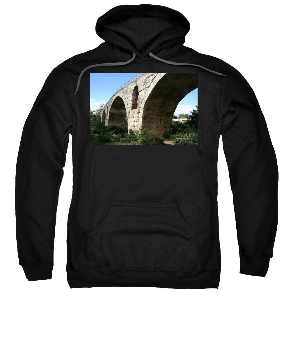 Roman Stonebridge Sweatshirt featuring the photograph Roman Bridge Pont St. Julien by Christiane Schulze Art And Photography
