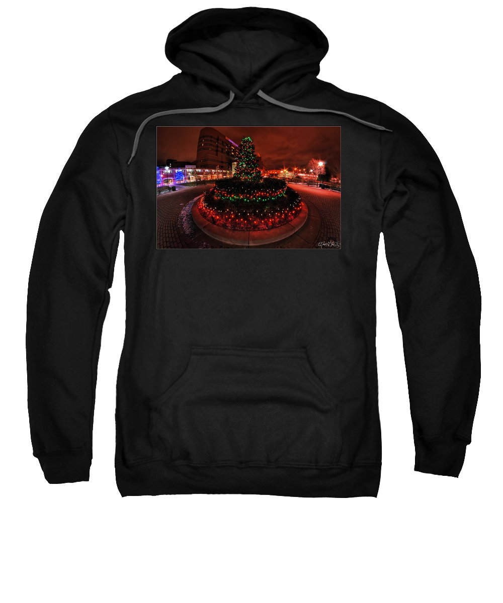 Sweatshirt featuring the photograph 009 Christmas Light Show At Roswell Series by Michael Frank Jr