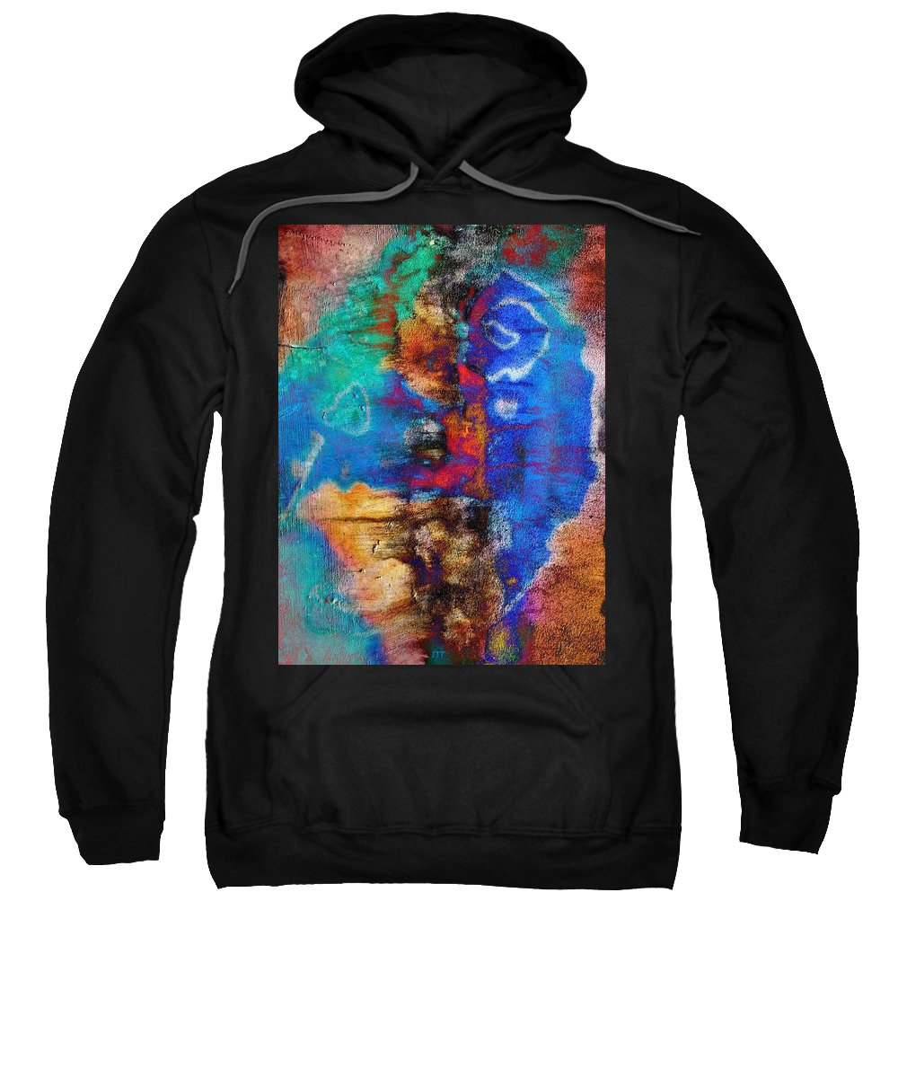 Abstract Sweatshirt featuring the painting Expression With Vision by I J T Son Of Jesus