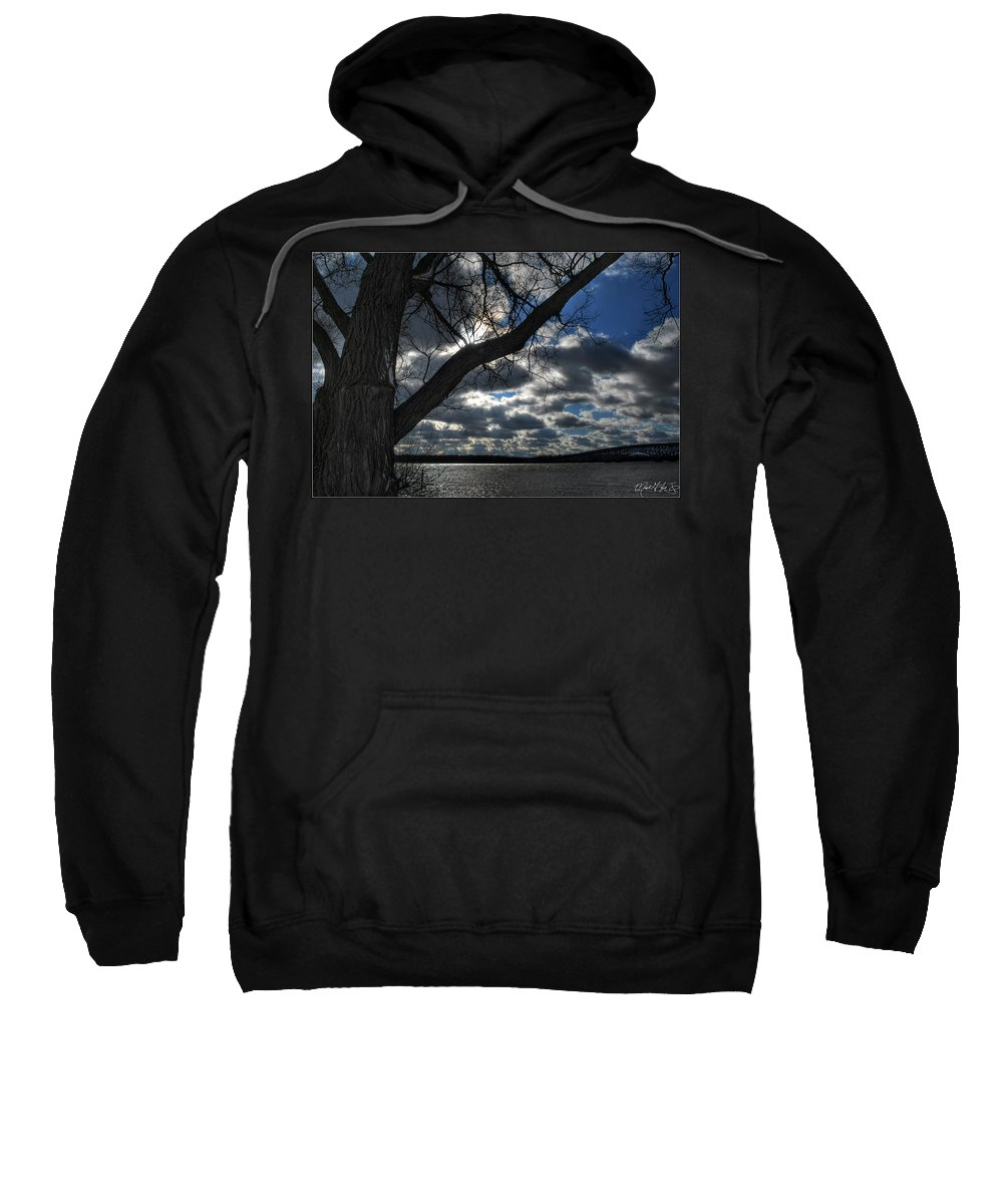 Sweatshirt featuring the photograph 003 Grand Island Bridge Series by Michael Frank Jr