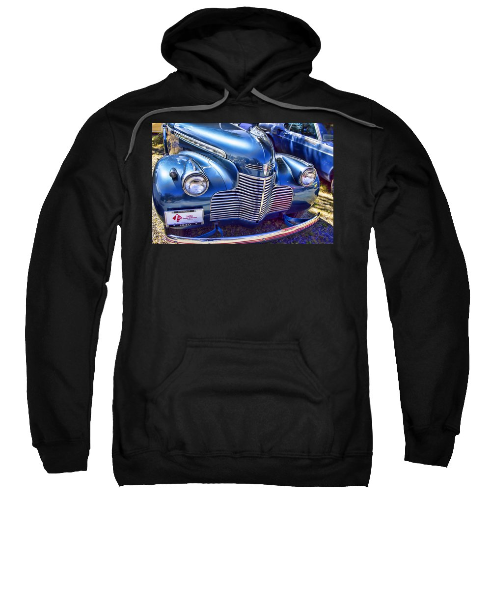 Sweatshirt featuring the photograph 1940 Chevy Grill by Cathy Anderson