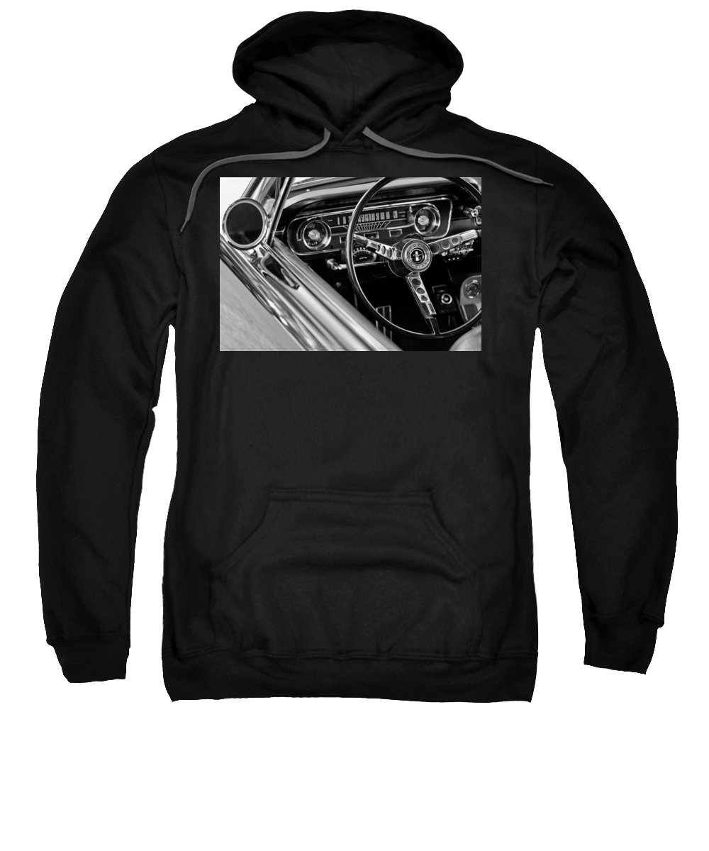 1965 Shelby Prototype Ford Mustang Steering Wheel Sweatshirt featuring the photograph 1965 Shelby Prototype Ford Mustang Steering Wheel by Jill Reger