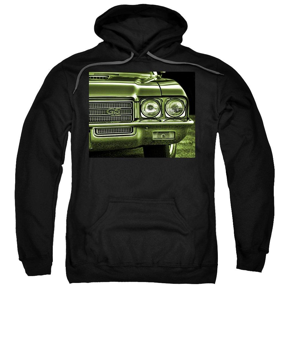 Green Sweatshirt featuring the photograph 1971 Buick Gs by Gordon Dean II