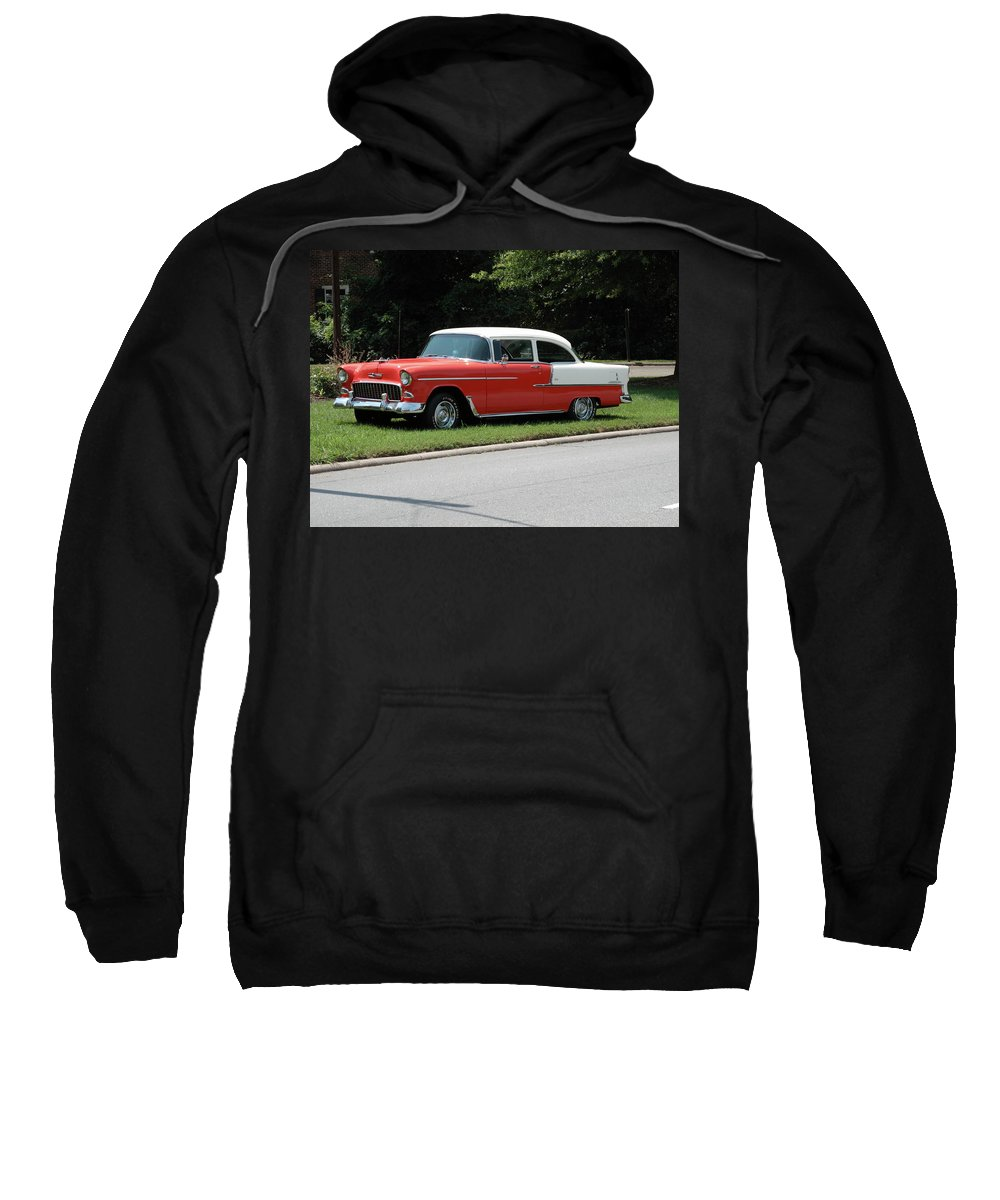 55 Sweatshirt featuring the photograph 55 Chevy by Frank Romeo