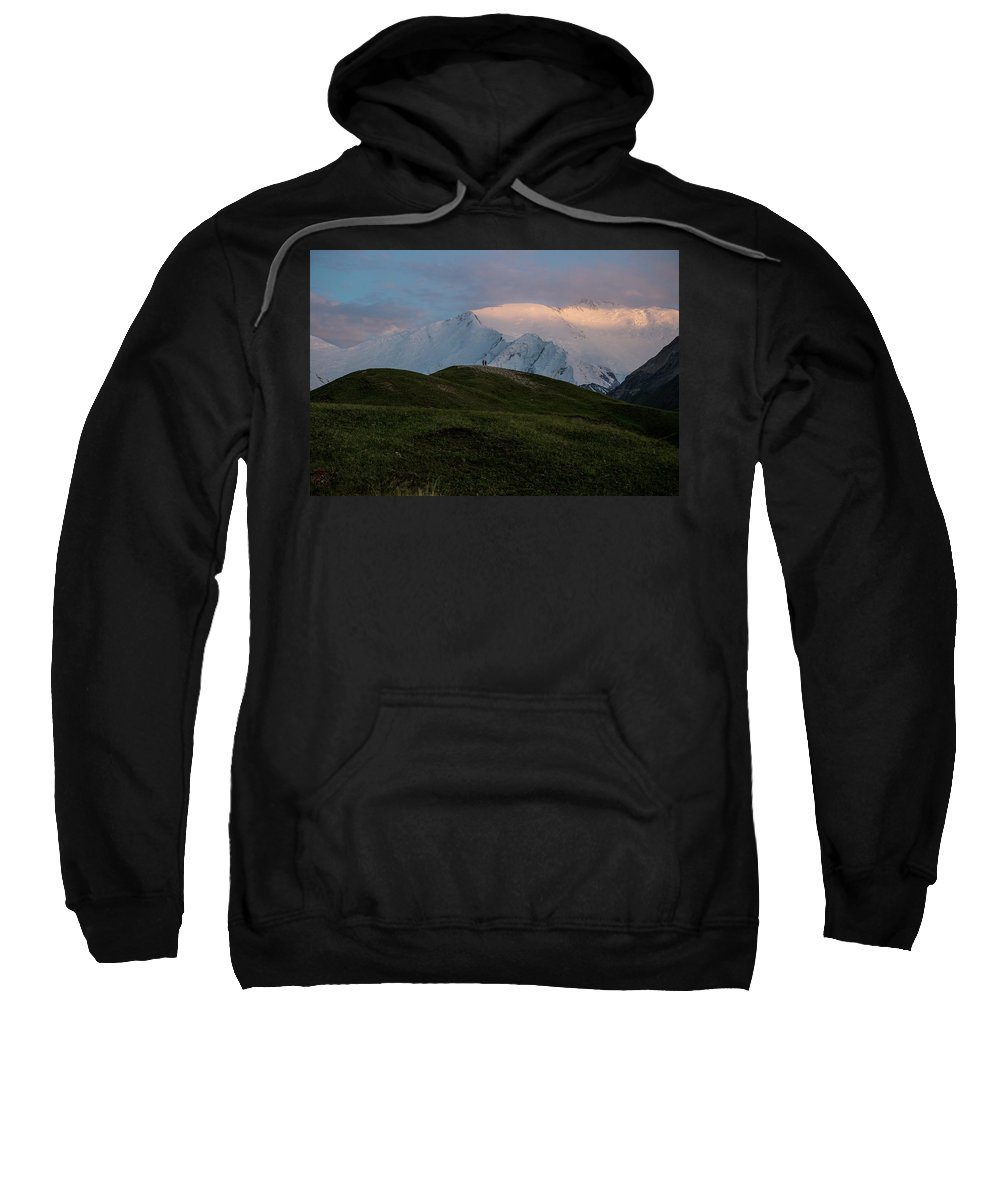 Adult Sweatshirt featuring the photograph A Couple Of Mountaineers by Pablo Benedito