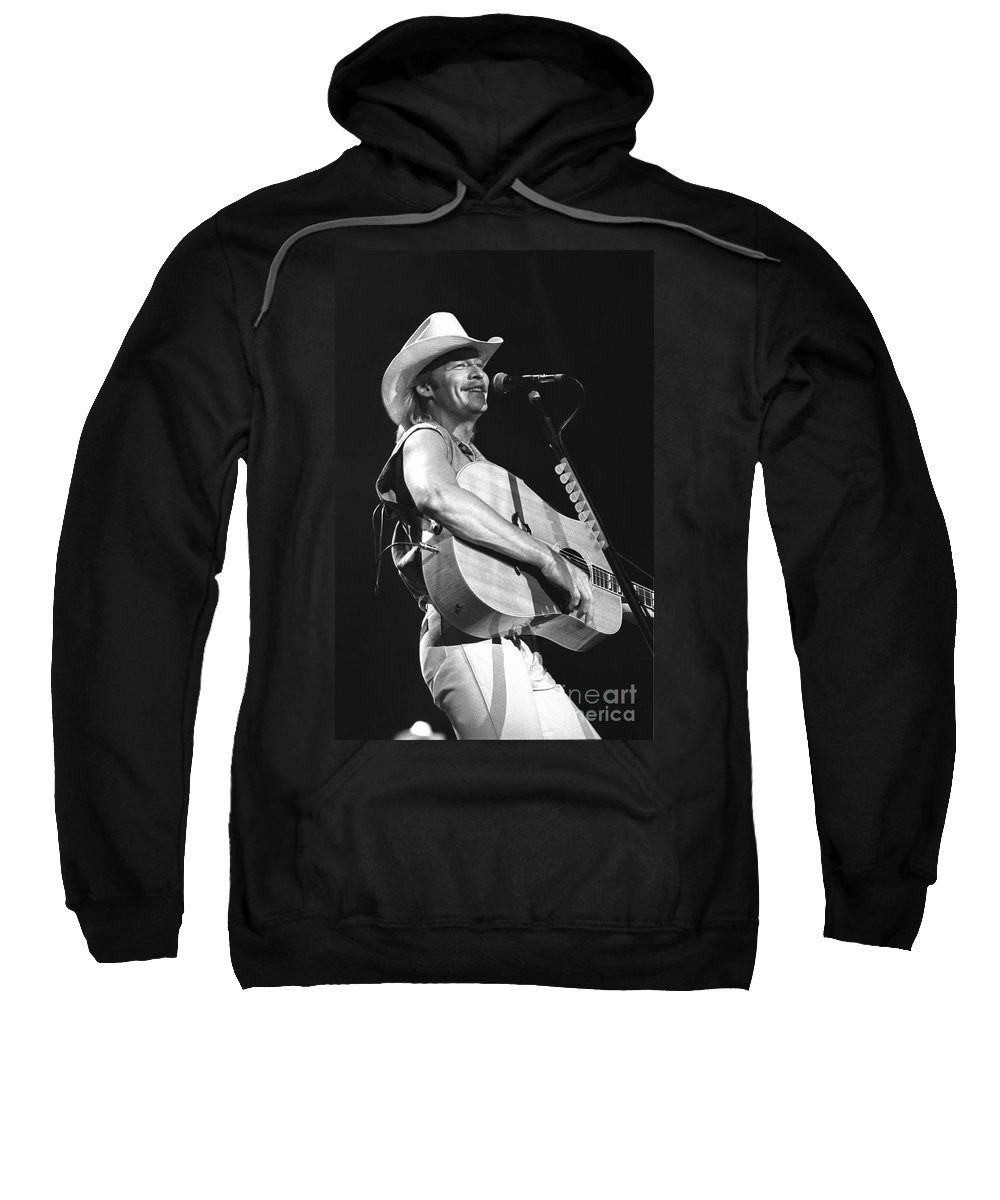 Country Music Star Sweatshirt featuring the photograph Alan Jackson by Concert Photos