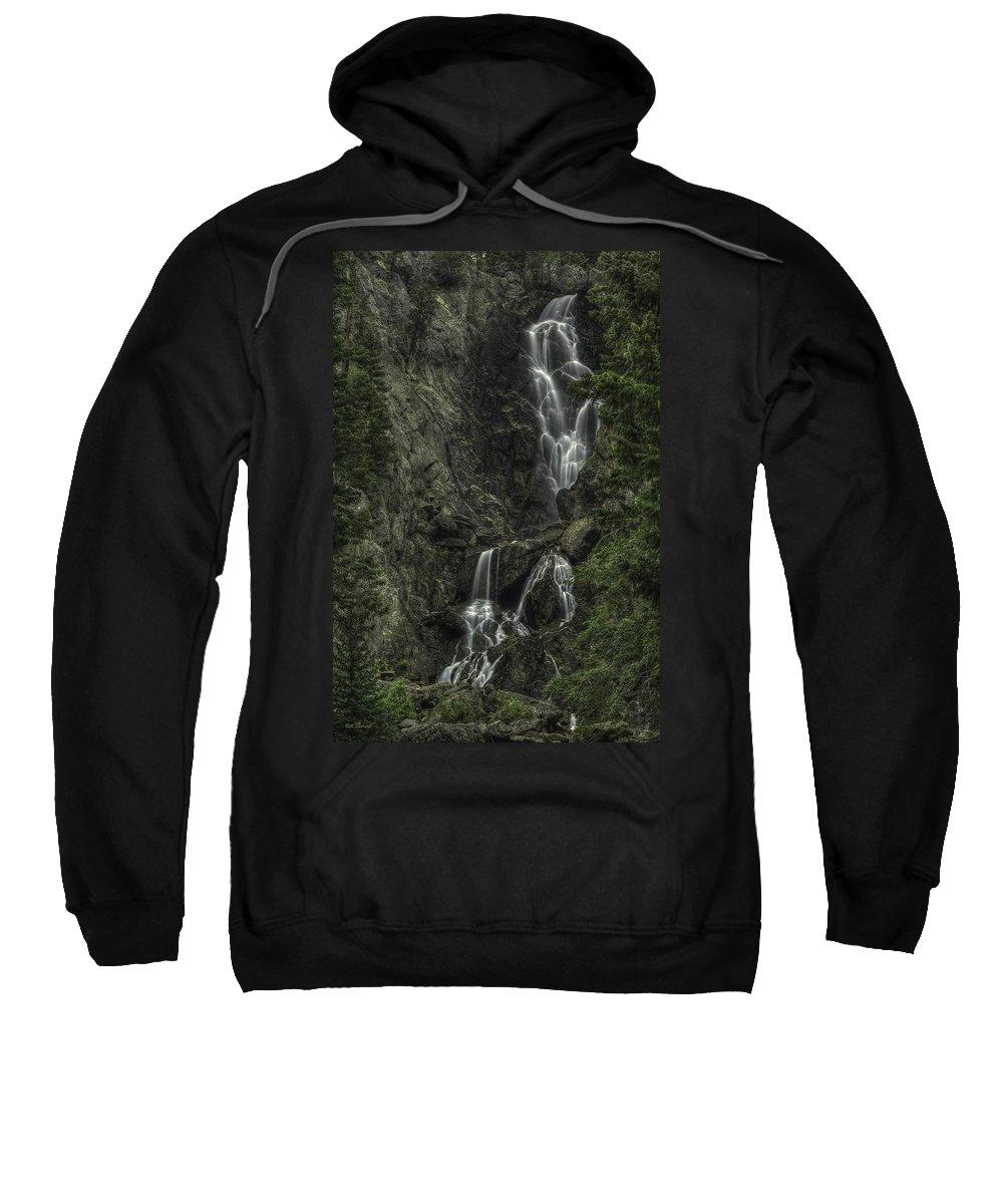Waterfall Landscape Sweatshirt featuring the photograph Angel Falls by Bill Sherrell