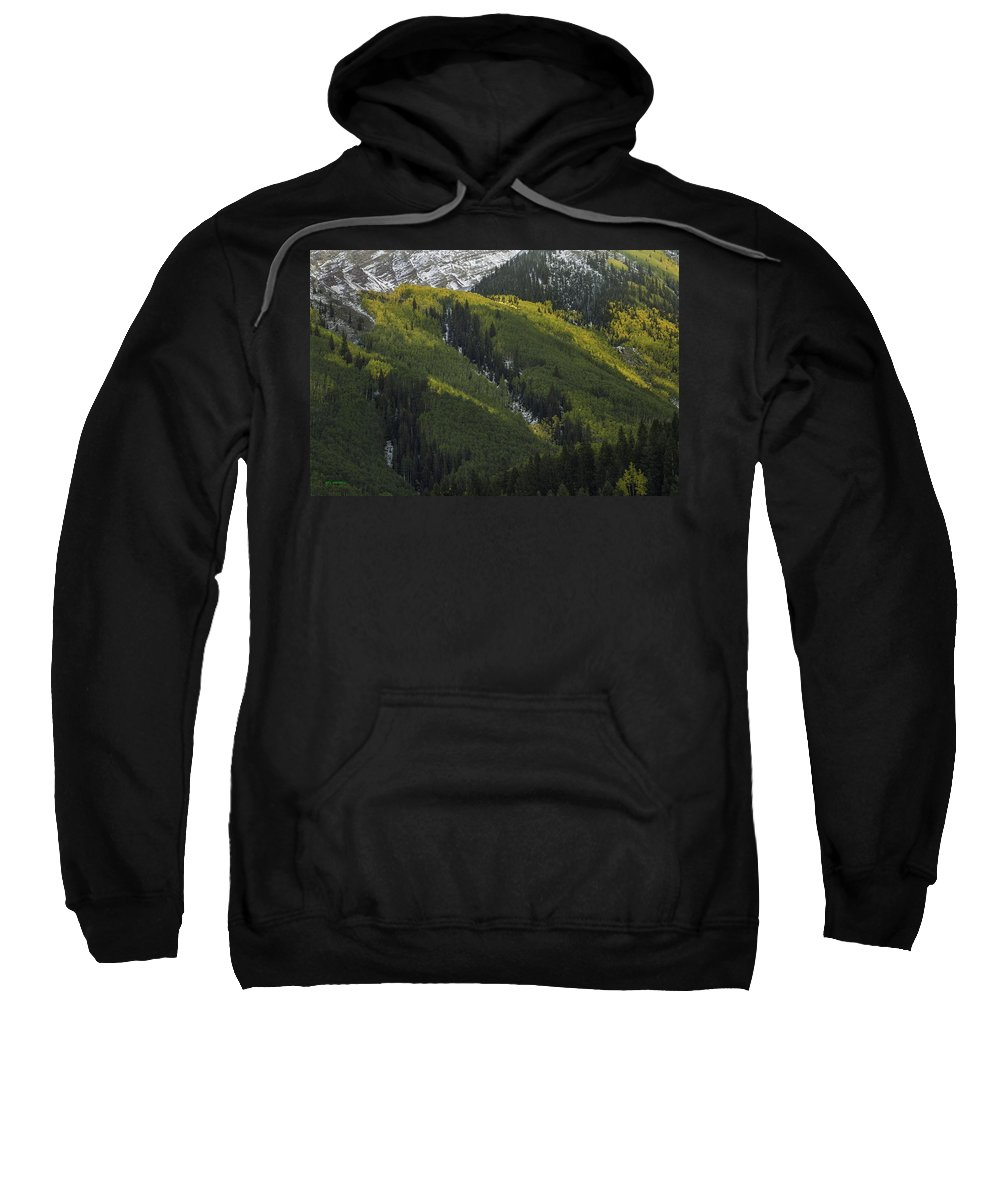 Landscape Sweatshirt featuring the photograph Autumn Angles by Bill Sherrell