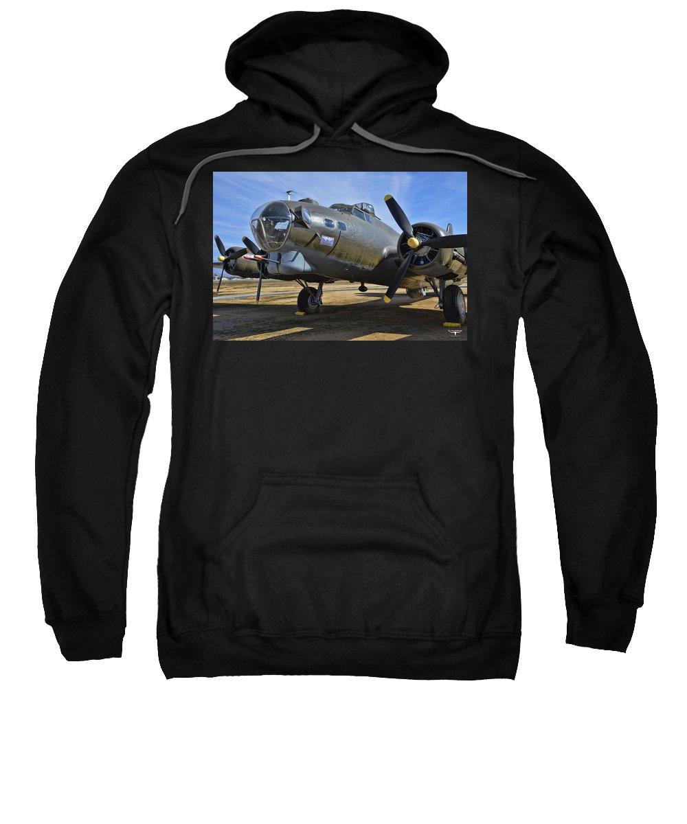 Boeing B-17g Flying Fortress Sweatshirt featuring the photograph Boeing B-17g Flying Fortress by Tommy Anderson