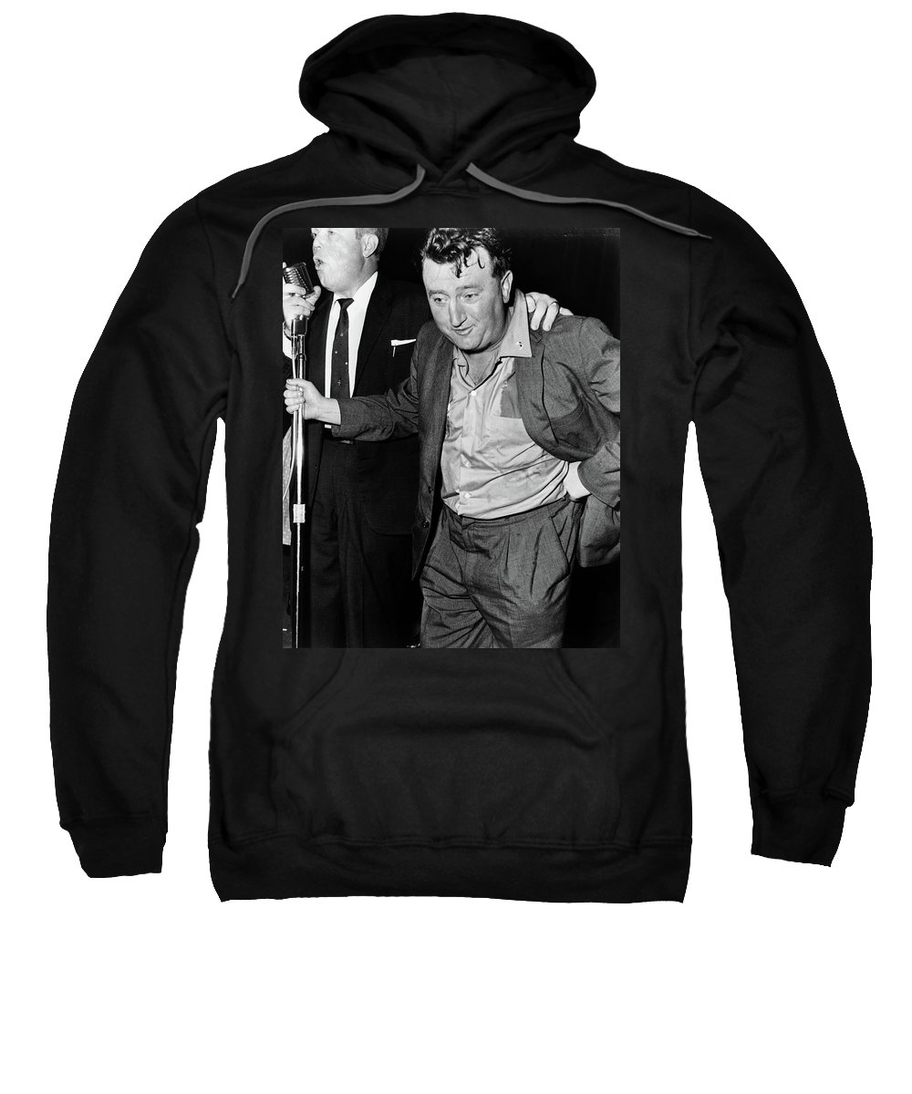 1960 Sweatshirt featuring the photograph Brendan Behan (1923-1964) by Granger