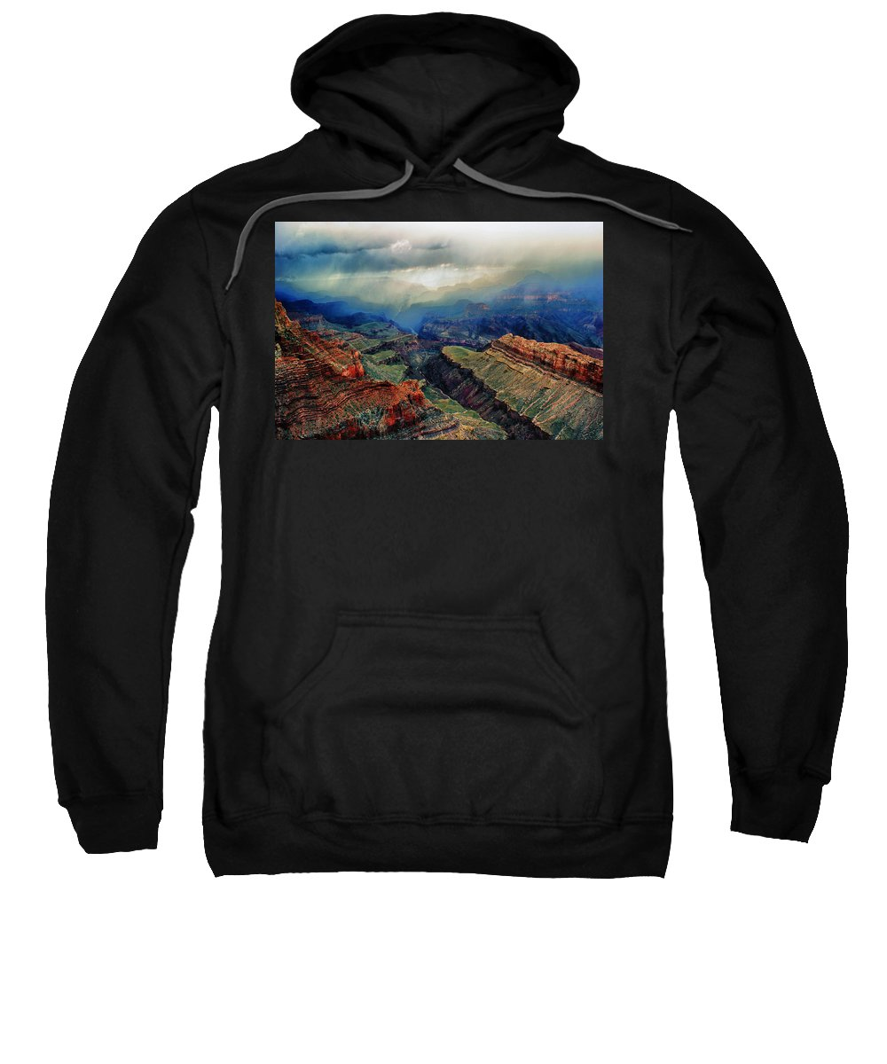 Grand Canyon Sweatshirt featuring the photograph Canyon Clouds by Brian Kerls