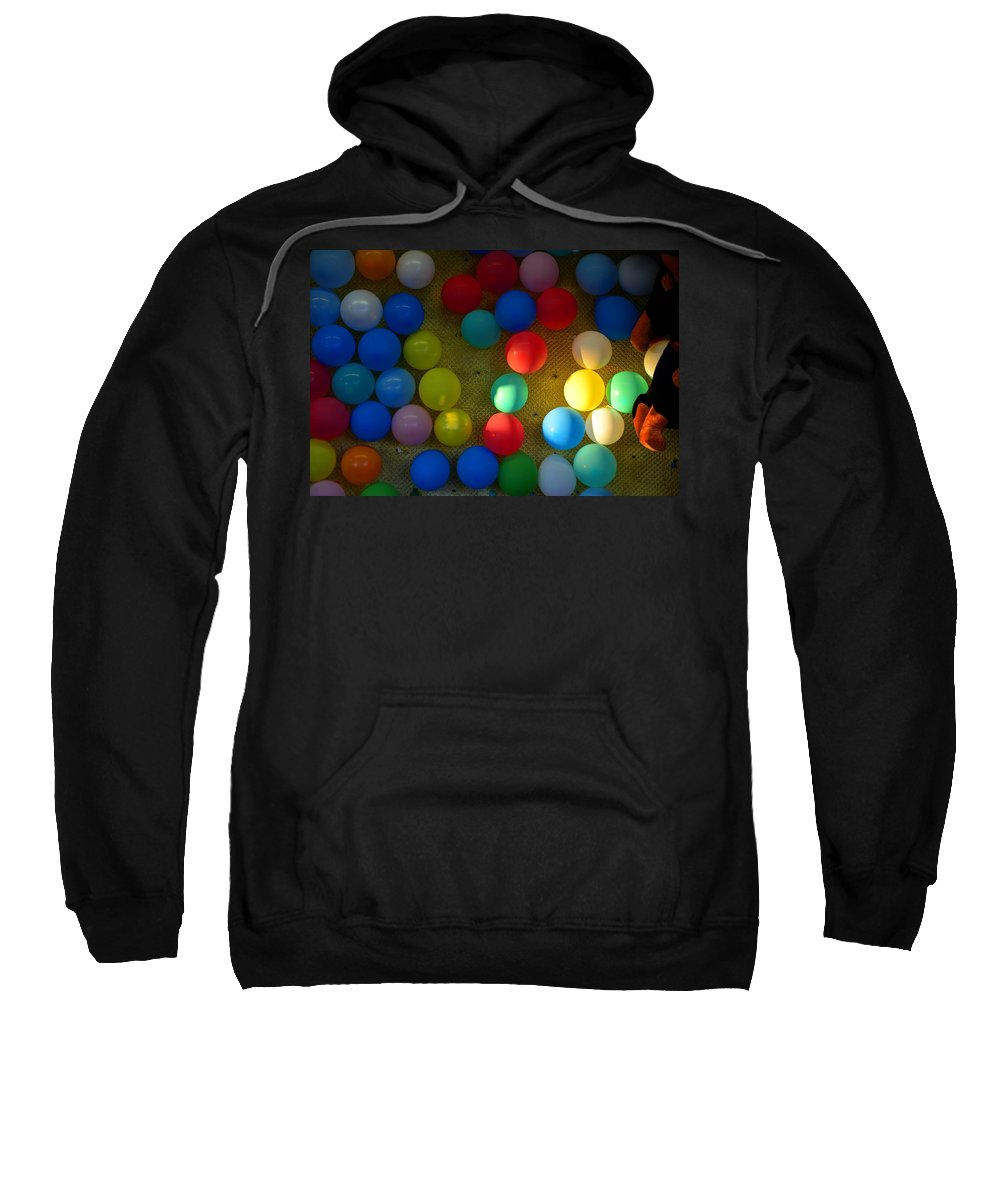 Carnival Balloons Sweatshirt featuring the photograph Carnival Balloons by David Lee Thompson