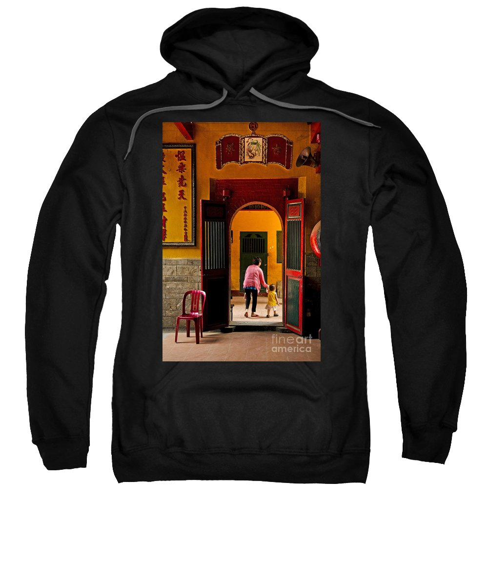 Architecture Sweatshirt featuring the photograph Chinese Temple In Ho Chi Minh Vietnam by Jacek Malipan