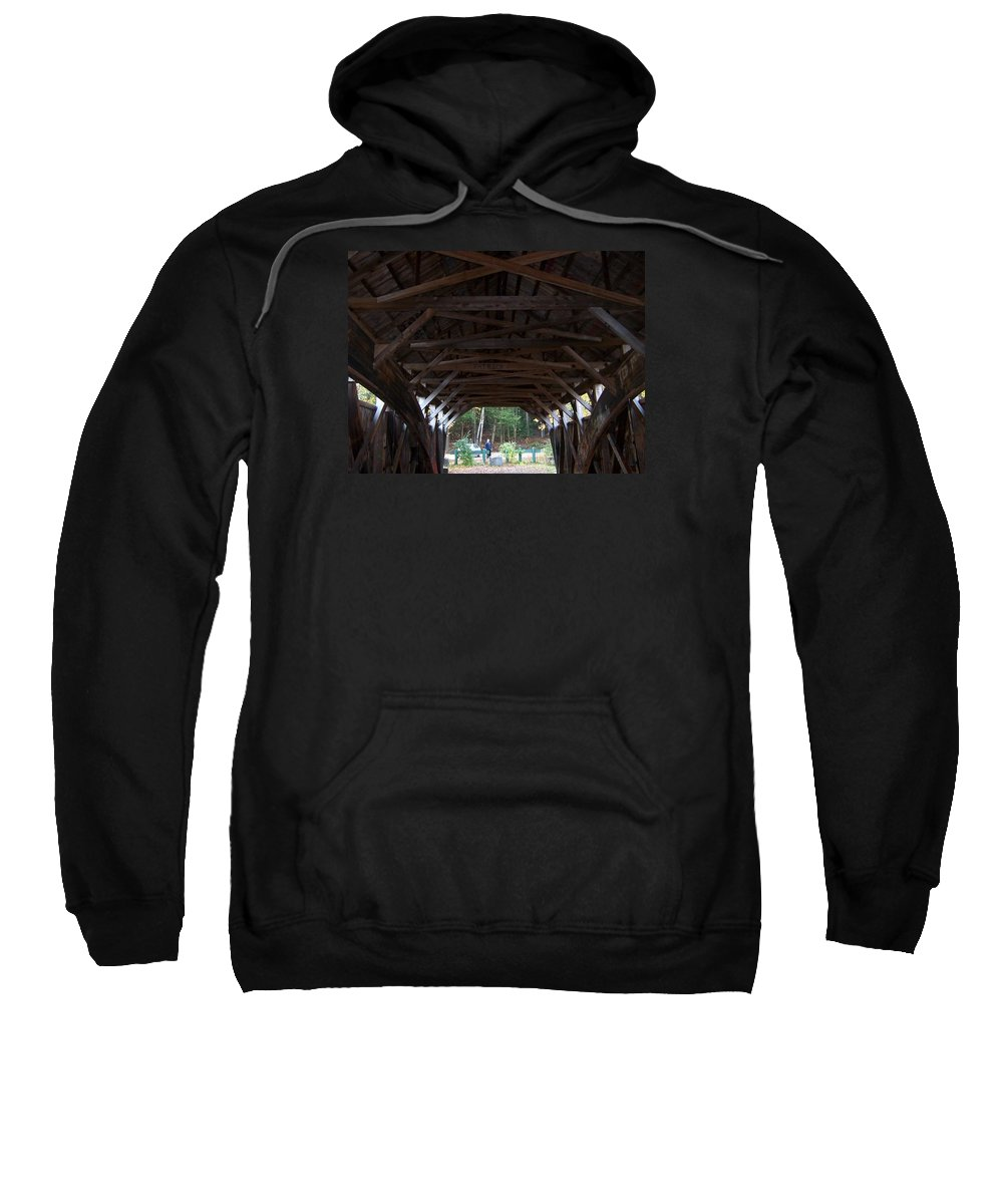 Covered Bridge Sweatshirt featuring the photograph Covered Bridge by Catherine Gagne
