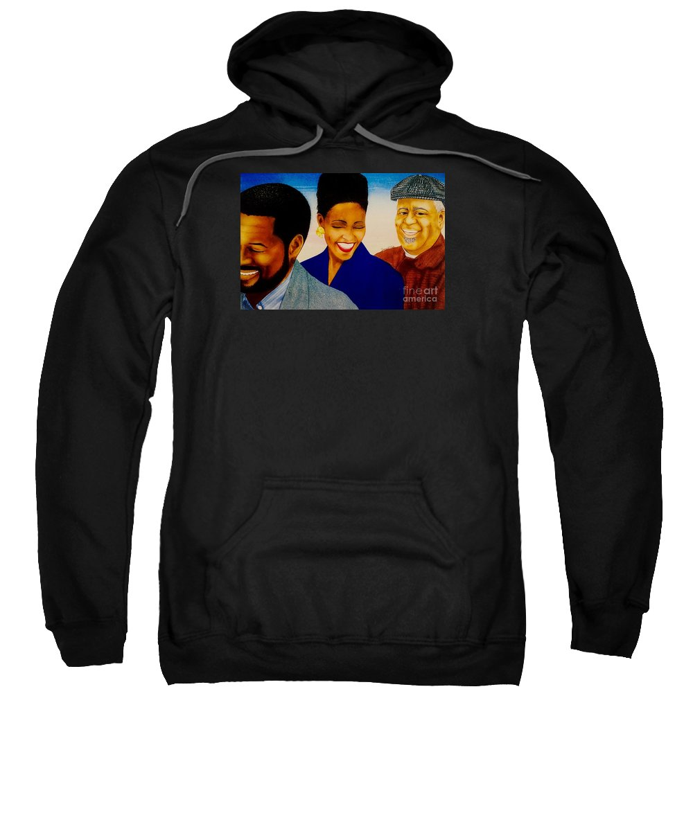 East Coast Sweatshirt featuring the painting Dizzy And Friends by JL Vaden