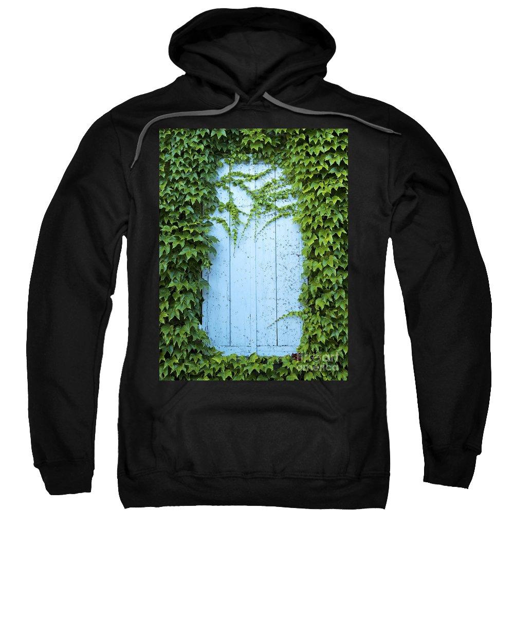 Door Sweatshirt featuring the photograph Door Framed By Plants by Jacek Malipan