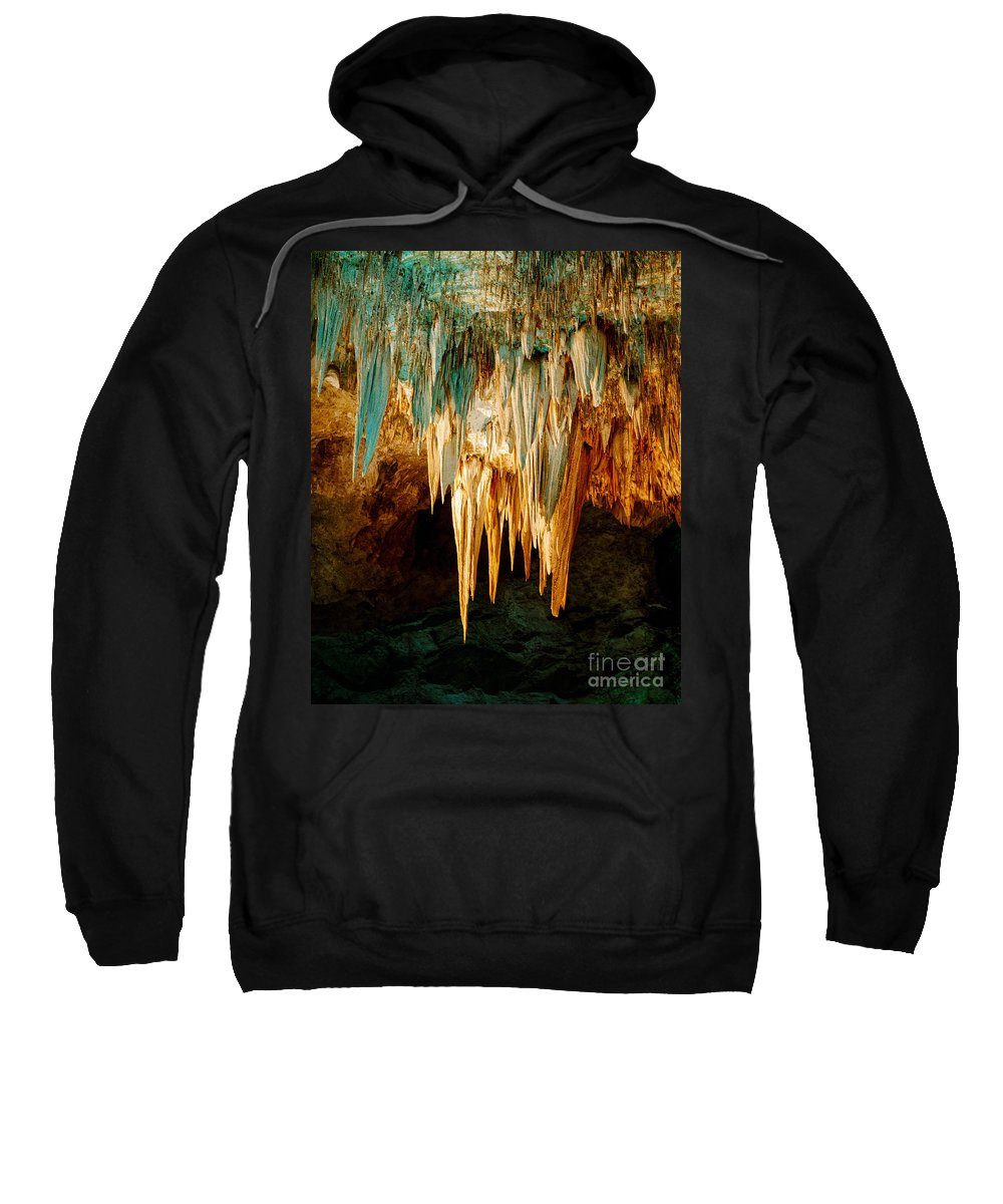 Carlsbad Caverns Sweatshirt featuring the photograph Draperies And Stalactites by Tracy Knauer