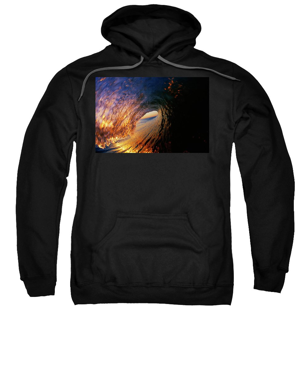 America Sweatshirt featuring the photograph Early Morning Wave Breaking by Todd Glaser