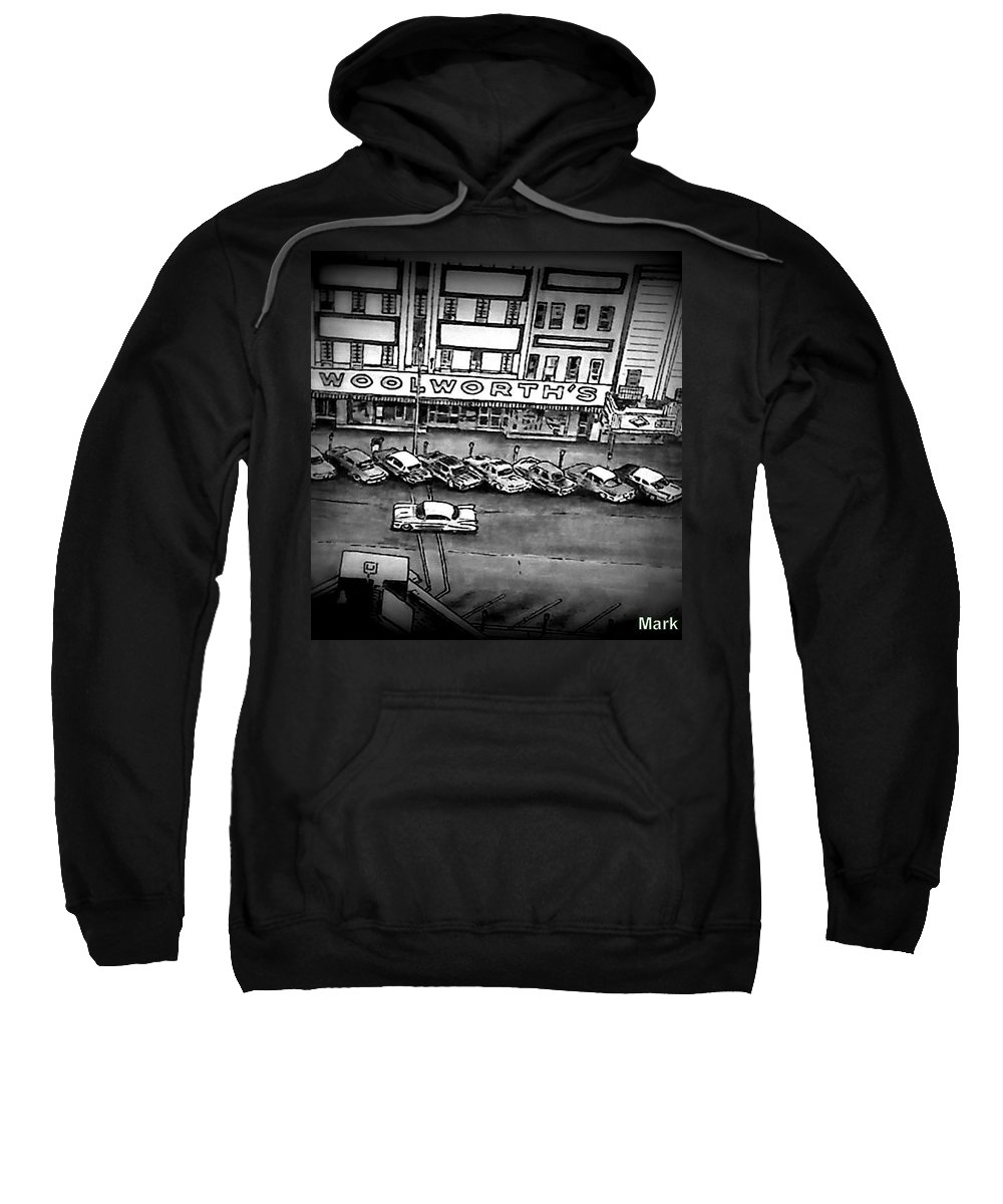 Mixed Medium Sweatshirt featuring the drawing East Side by Mark Herman