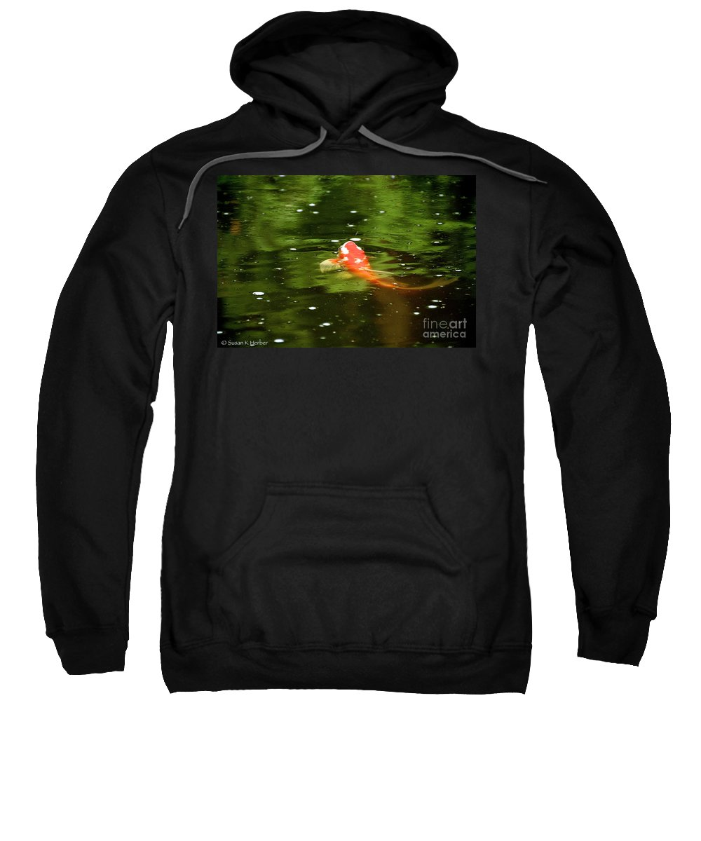 Outdoors Sweatshirt featuring the photograph Emerald Waters by Susan Herber