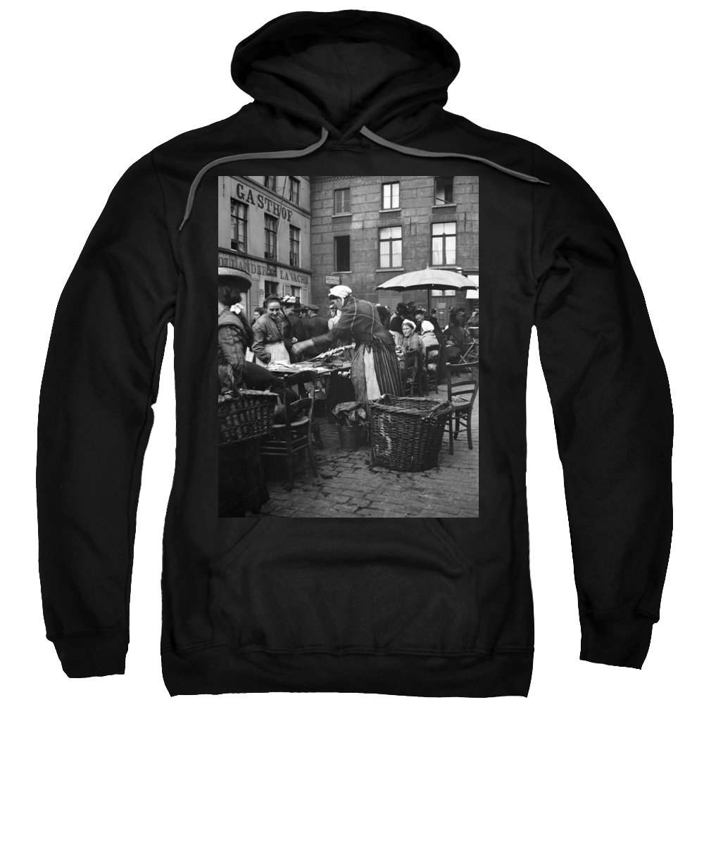 1910 Sweatshirt featuring the photograph Europe Market, C1910 by Granger