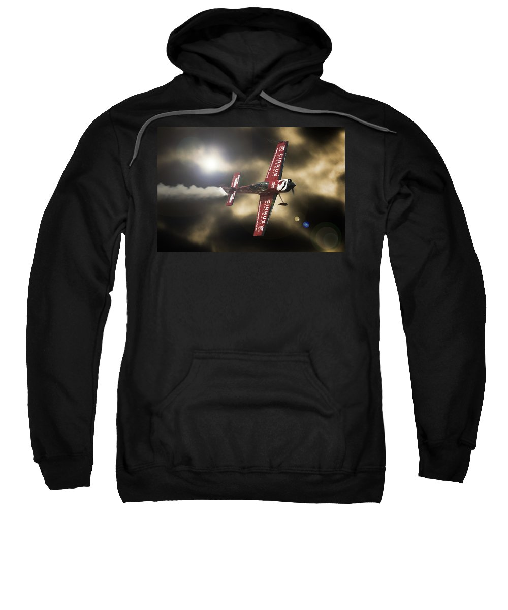 Extra 300 Sweatshirt featuring the photograph Extra Smoke by Paul Job