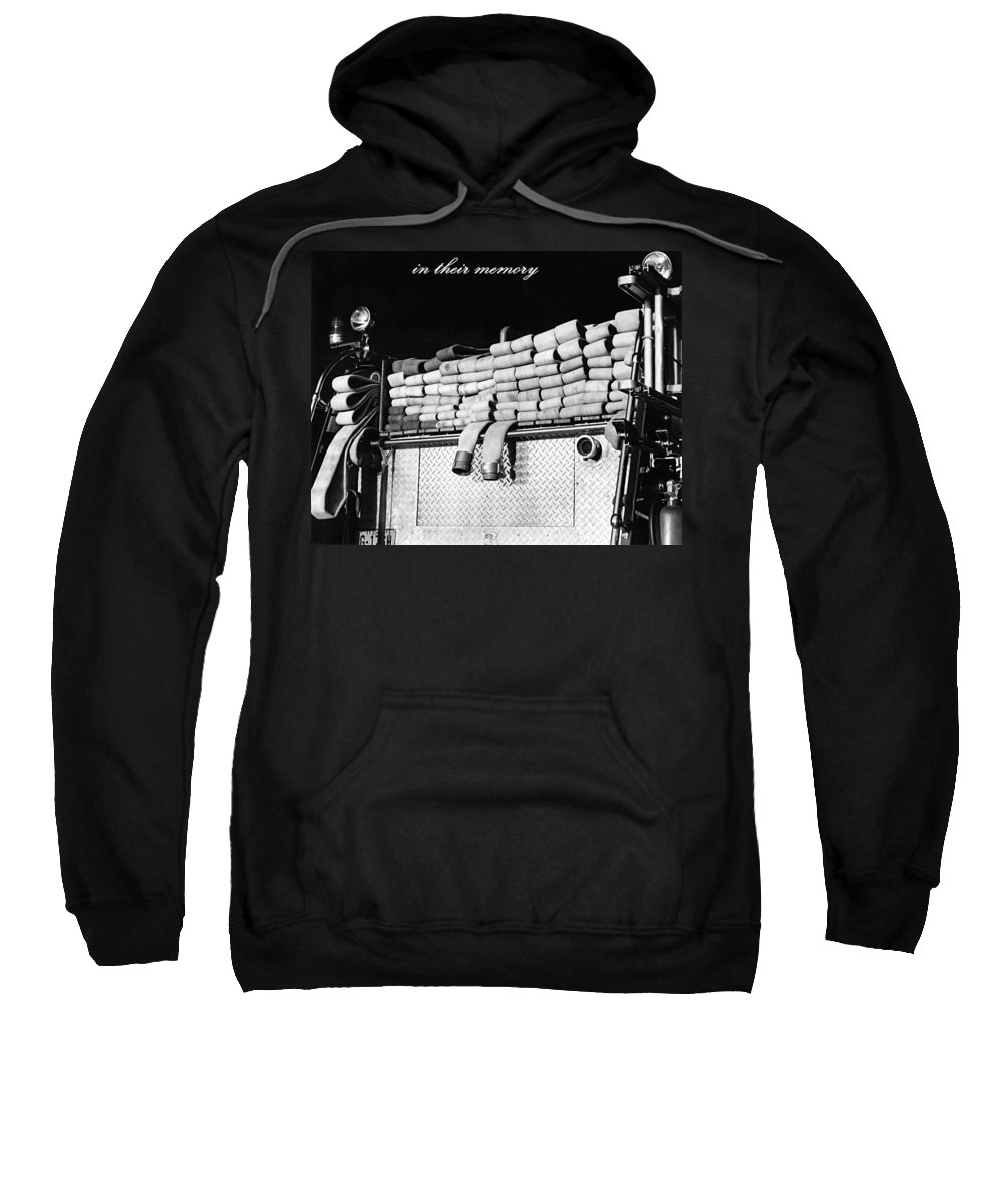 Fire_truck Sweatshirt featuring the photograph In Their Memory by Tam Ryan